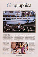 Story on Dominique Lapierre hospital-boats in the Sundarbans (Western Bengal) in India. Published in National Geographic France in November 1999.<br /> <br /> Sujet sur les bateaux-hopitaux de Dominique Lapierre dans les Sundarbans (Bengal de l'ouest) en Inde.