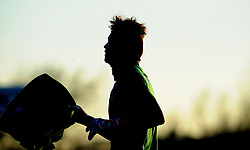 Silhouette of Shamal George of Colchester United - Mandatory by-line: Nizaam Jones/JMP - 27/02/2021 - FOOTBALL - The innocent New Lawn Stadium - Nailsworth, England - Forest Green Rovers v Colchester United - Sky Bet League Two
