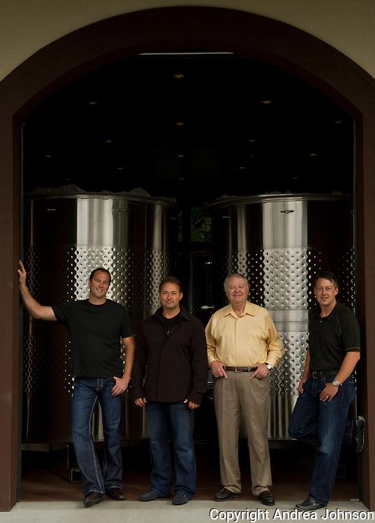 Paul and Alex Golitzin, Marv Crum, and John Ware, Quilceda Creek, Snohomish, Washington