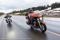 Randy Bartels of Manhattan, KS on his 2008 CVO Ultra Classic riding from Thunder Mountain Harley-Davidson in Loveland, Colorado to the Rocky Mountain HOG Rally in Steamboat Springs. USA. Wednesday June 7, 2017. Photography ©2017 Michael Lichter.