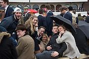 STUDENTS FROM BRISTOL UNIVERSITY, The Cheltenham Festival Ladies Day. Cheltenham Spa. 11 March 2015