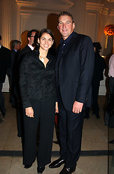 Olympic gold medal winning rower MATTHEW PINSENT and his wife DEMETRA at a party hosted by Bentley motorcars held at The Orangery, Kensington Palace, London on 3rd November 2004.<br /><br />NON EXCLUSIVE - WORLD RIGHTS