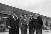 17/04/1963<br /> 04/17/1963<br /> 17 April 1963<br /> Lord Mayor of Birmingham visits Fry-Cadbury factory, Colock, Malahide Road, Dublin. Image shows: Richard Godsil, Joint Managing Director , Fry-Cadbury (Ireland ) Ltd. welcoming the Lord Mayor of Birmingham, the Rt. Hon. Ernest Horton. Also present are Arthur Lyle (left) and Raymond Sellers (2nd left) Joint Managing Directors, with the Lord Mayor of Dublin, Alderman J.J. O'Keeffe on right.