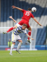 Football - 2016 / 2017 Scottish League Cup - Semi-Final - Greenock Morton vs. Aberdeen<br /> <br /> Gary Oliver of Morton  is out jumped by Anthony O'Connor of Aberdeen , at Hampden Park.<br /> <br /> COLORSPORT/LYNNE CAMERON