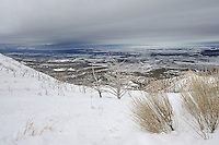 Winter Panorama while driving in Mesa Verde National Park. Image taken with a Nikon D3 and 14-24 f/2.8 lens (ISO 200, 22 mm, f/11, 1/500 sec)