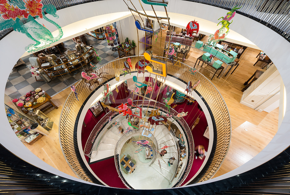 A view from the top floor of Fortnum & Mason in London.