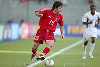 FOTBALL - CONFEDERATIONS CUP 2003 - GROUP B - TYRKIA v USA - 030619 - IBRAHIM UZULMEZ (TUR) - PHOTO STEPHANE MANTEY / DIGITALSPORT
