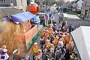 Nederland, Malden, 2-3-2019Carnavalsoptocht door het dorp. Wagens uit de hele regio rijden mee.Foto: Flip Franssen