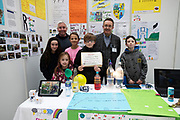 24/11/2019 repro free:  Paul Mee Chairman Galway  Science and Technology Festival with  Scoil Bhrendain Naofa Clonfert at the exhibition day of the Galway Science and Technology Festival at NUI Galway where over 20,000 people attended exhibition stands  from schools to Multinational Companies . Photo:Andrew Downes, xposure