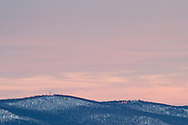 Central Valley, New York - A view of the mountains above Central Valley on a winter afternoon.