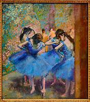 France, Paris (75), zone classée Patrimoine Mondial de l'UNESCO, Musée d'Orsay, Danseuses bleues, Edgar Degas // France, Paris, Orsay museum, Danseuses bleues, Edgar Degas