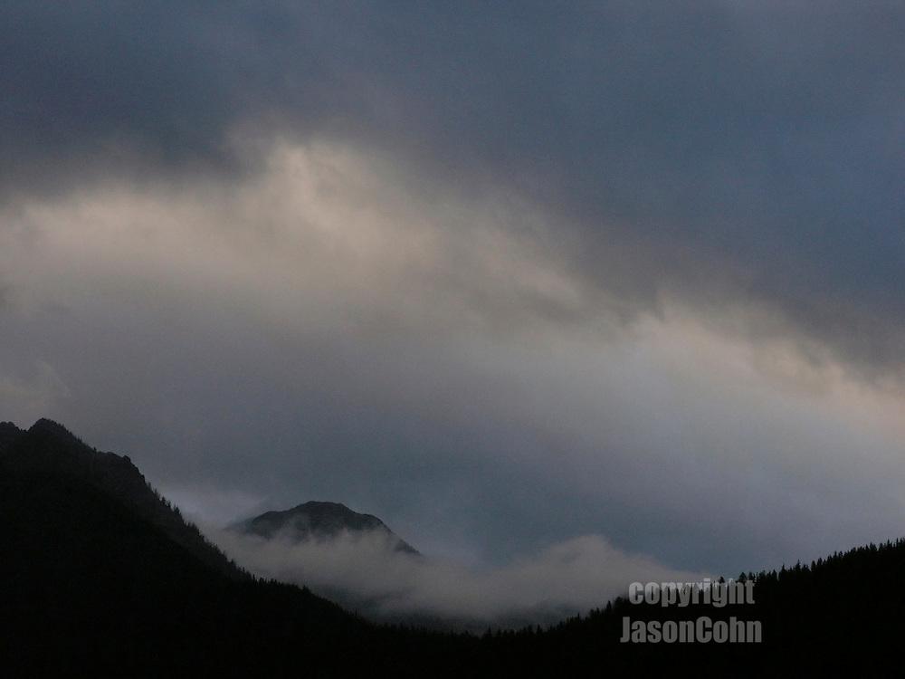 An evening storm in Glacier Park, Montana. Photo by Jason Cohn