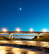Bridge over the Clear Fork of the Trinity River on October 10, 2013 in Fort Worth, Texas.<br /> <br /> Robert W. Hart/Special Contributor