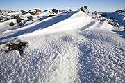 Snow and Dolerite, Mount Wellington Forest Park - Tasmania