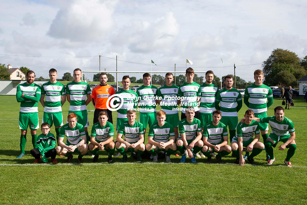 01/09/2019, Premier Soccer at Tully Park, Trim<br /> NEFL Premier title decider - Trim Celtic vs Parkvilla<br /> Trim Celtic Team, Back Row, L-R, Paul Munnelly, Sean Fitzgerald, Aaron Williams, Aaron Ryan, James Goggins, Calum Ennis, Luke Mahon, Oisin Smith, Colm Kearney, Gary Connell, Paddy Brophy.<br /> Front Row, L-R, Caimin Murphy, Dean Courtney, Cillian Corcoran, Eoin O`Conner, Ciaran O`Connell, Jack O`Keeffe, Mark Leavy, Conor Walsh, Brian Faulkner.<br /> Photo: David Mullen / www.quirke.ie ©John Quirke Photography, Unit 17, Blackcastle Shopping Cte. Navan. Co. Meath. 046-9079044 / 087-2579454.<br /> ISO: 200; Shutter: 1/200; Aperture: 10; <br /> File Size: 3.3MB
