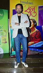 October 12, 2017 - Mumbai, Maharashtra, India - Indian film Producer Atul Kasbekar at the trailer launch of his upcoming film 'Tumhari Sulu' at cinepolis cinema, andheri in Mumbai. (Credit Image: © Azhar Khan via ZUMA Wire)