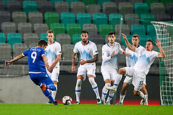 Dimitris Christofi of Cyprus during football match between National Teams of Slovenia and Cyprus in Final Tournament of UEFA Nations League 2019, on October 16, 2018 in SRC Stozice, Ljubljana, Slovenia. Photo by  Morgan Kristan / Sportida