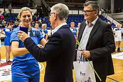 Anja Freser during Exhibition game of Slovenian women handball legends on 29th of September, Celje, Slovenija 2018
