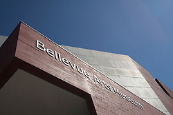 North America, United States, Washington, Bellevue, sign at entrance to  Bellevue Art Museum