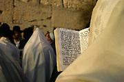 Israel, Jerusalem, Jewish men at prayer At the wailing wall, Jerusalem