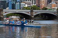 School girls are seen in a coxed four during an introduction to rowing day at the boat sheds during the COVID-19 in Melbourne. With over a week of zero cases in Victoria, Premier Daniel Andrews is expected to make major announcements on Sunday about further easing of restrictions. (Photo by Dave Hewison/Speed Media)
