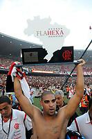 20091206: RIO DE JANEIRO, BRAZIL - Flamengo vs Gremio: Brazilian League 2009 - Flamengo won 2-1 and celebrated the 6th Brazilian Championship of its history. In picture: Adriano (Flamengo) celebrating victory. PHOTO: Andre Durao/CITYFILES