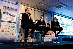 Mark Stevens talks with Nic White and Jack Nowell at the annual Exeter Chiefs Foundation Christmas Dinner at Sandy Park - Ryan Hiscott/JMP - 07/12/2018 - RUGBY - Sandy Park - Exeter, England - Exeter Chiefs Foundation Christmas Dinner with David Flatman