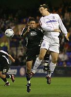 Photo: Paul Thomas.<br /> Tranmere Rovers v Bristol City. Coca Cola League 1. 08/09/2006.<br /> <br /> Bristol's Lee Johnson (L) and Chris Greenacre go for the ball.