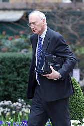© Licensed to London News Pictures. 18/03/2014. London, UK. The Chief Whip Sir George Young arrives for a meeting of the British cabinet on Downing Street in London today (18/03/2014). Photo credit: Matt Cetti-Roberts/LNP