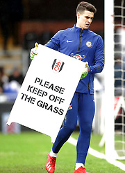 Chelsea goalkeeper Kepa Arrizabalaga during the Premier League match at Craven Cottage, London.