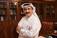 10 APR 2013, DOHA/QATAR<br /> Remy Rowhani, Director General Qatar Chamber, in seinem Buero<br /> IMAGE: 20130410-01-135<br /> KEYWORDS: Katar