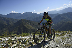 October 3, 2018 - Himachal Pradesh, India - Andreas Seewald of Germany competes at the 14th edition of the Hero MTB Himalaya mountain bike race in the northern Indian state of Himachal Pradesh on 4th  October, 2018. The 14th edition of the annual cross country race is taking place over eight stages in the foothills of the Himalaya, started in Shimla on September 28, 2018 and finishing in Dharamshala on October 6,2018. (Credit Image: © Indraneel Chowdhury/NurPhoto/ZUMA Press)