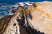 Sedimentary rock and tidepools, Montana de Oro State Park, California USA
