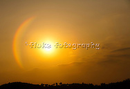 """A rainbow surrounding the sun on a beautiful Southern California evening.  Spectacular!  20"""" x 14"""".  Printed on Parrot Digigraphic Ultra Lustre paper.  Limited Edition of 25."""