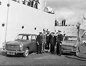 "1960 - British Navy vessel ""Malcolm"" in Dublin."