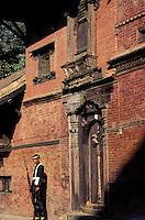 Nepal - Vallée de Kathmandu - Kathmandu - Cour interieure de l'ancien Palais royal