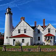 """""""Light So Tall""""<br /> <br /> The lovely Point Iroquois Light Station! A scenic lighthouse located on the shores of Lake Superior in Michigan's Upper Peninsula!!<br /> <br /> Lighthouses of the Great Lakes by Rachel Cohen"""