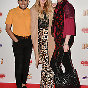 Guest, Victoria Brown and Lewis-Duncan Weedon attends Briefs: Close Encounters - press night an All-male 'Boylesque' group show off their circus skills, drag acts and raucous comedy routines at The Spiegeltent Leicester Square on 14 November 2018, London, UK.