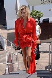 Hailey Baldwin is seen walking on La Croisette ahead of 70th Cannes Film Festival in Cannes, France on May 24, 2017. Photo by Julien Reynaud/APS-Medias/ABACAPRESS.COM