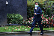 Ukrainian President Volodymyr Zelenskyy arrive in Downing Street in London on Thursday, Oct 8, 2020. As part of the visit, Foreign Secretary Dominic Raab will meet Ukrainian Foreign Minister Dmytro Kuleba to reaffirm the UK's support for Ukraine's sovereignty and territorial integrity. (VXP Photo/ Vudi Xhymshiti)