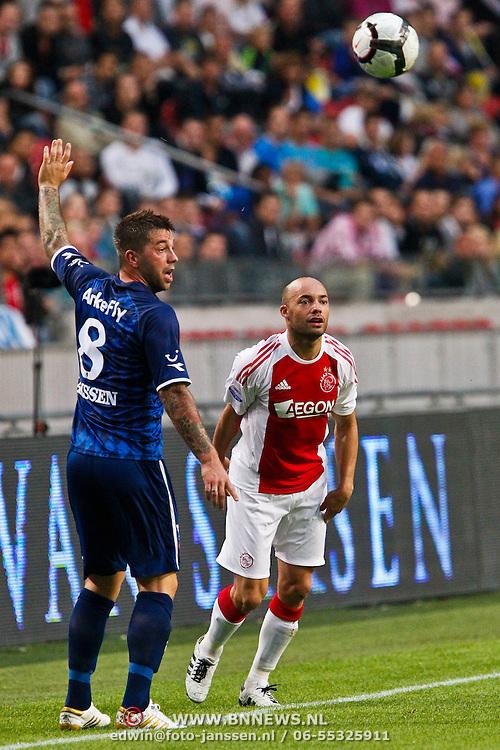 NLD/Amsterdam/20100731 - Wedstrijd om de JC schaal 2010 tussen Ajax - FC Twente, Demy de Zeeuw in duel met Theo Janssen