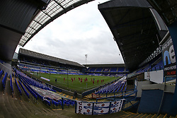 A general view of the stadium as Accrington Stanley warm up - Mandatory by-line: Arron Gent/JMP - 16/10/2020 - FOOTBALL - Portman Road - Ipswich, England - Ipswich Town v Accrington Stanley - Sky Bet League One