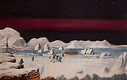 First communication with eskimos of Boothia Felix, Narrative of a second voyage in search of North-West Passage during years 1829-1833 by British explorer Sir John Ross, London 1835.