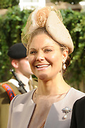 Religious wedding of Grand Duke Guillaume and Princess Stephanie at the Cathedral Notre-Dame in Luxembourg <br /> <br /> On the photo:  Princess Victoria of Sweden