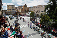 Landscape and peloton during the 101th Tour of Italy, Giro d'Italia 2018, stage 6, Caltanissetta - Etna 163 km on May 10, 2018 in Italy - Photo Luca Bettini / BettiniPhoto / ProSportsImages / DPPI
