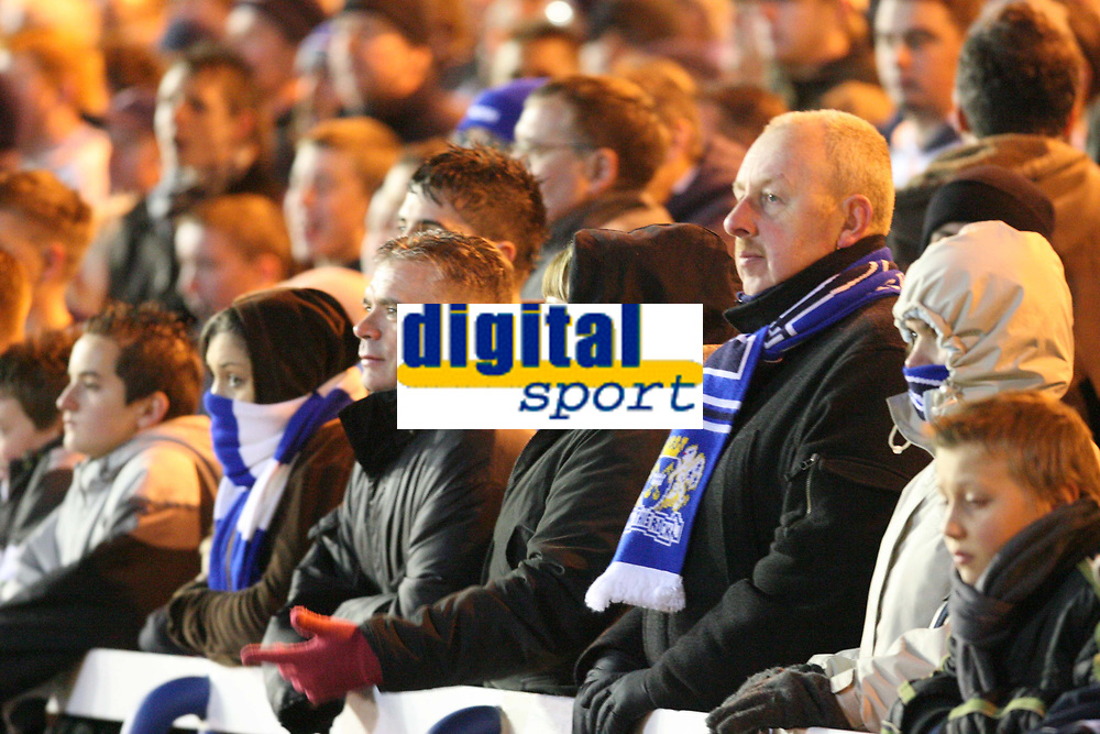 Photo: Pete Lorence/Sportsbeat Images.<br />Peterborough United v Milton Keynes Dons. Coca Cola League 2. 15/12/2007.<br />Peterborough fans were subdude as MK Dons extended their lead to 2-0 early in the first half.