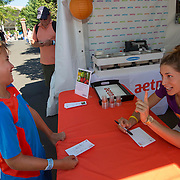 August 19, 2014, New Haven, CT:<br /> Andrea Petkovic signs autographs on day five of the 2014 Connecticut Open at the Yale University Tennis Center in New Haven, Connecticut Tuesday, August 19, 2014.<br /> (Photo by Billie Weiss/Connecticut Open)