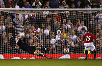 Fotball<br /> England <br /> Foto: Propaganda/Digitalsport<br /> NORWAY ONLY<br /> <br /> Manchester, England - Thursday, April 26, 2007: Liverpool's goalkeeper David Roberts saves the first penalty of the shoot-out from Manchester United's Magnus Eikrem during the FA Youth Cup Final 2nd Leg at Old Trafford.
