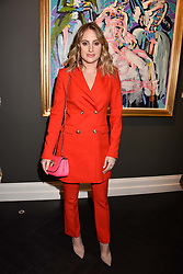 Rosie Fortescue at a private view of work by Bradley Theodore entitled 'The Second Coming' at the Maddox Gallery, 9 Maddox Street, London England. 19 April 2017.