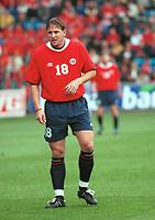 Thorstein Helstad, Norge. Norge - Armenia 1-1. Herrelandslaget 2000. VM-kvalifisering 2002. 2. september 2000. (Foto: Peter Tubaas/Fortuna Media)